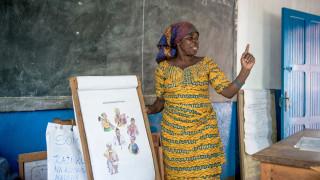 WfWI-Trainerin während einer Schulung in der DRK. Foto: Ryan Carter