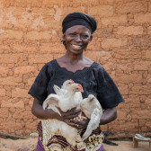 "Talatu graduated from our programme in Nigeria, ""The most important thing I learnt was about poultry keeping. I didn't know how to take care of the chicks and how to keep them healthy."""